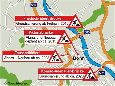 Baustellen in Bonn